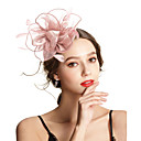 ราคาถูก กระเป๋าถือออกงานและกระเป๋าคลัทช์-Polyester / Polyamide fascinators กับ ขนนก / ดอกไม้ / ไม่มีลาย 1pc งานแต่งงาน / โอกาสพิเศษ หูฟัง