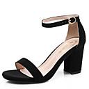 ราคาถูก รองเท้าแตะผู้หญิง-สำหรับผู้หญิง รองเท้าแตะ ส้นหนา แน๊บป้า Leather ฤดูร้อน สีดำ / แดง