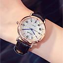 ราคาถูก นาฬิกาข้อมือแฟชั่น-สำหรับผู้หญิง นาฬิกาหรู นาฬิกาข้อมือ นาฬิกาอิเล็กทรอนิกส์ (Quartz) PU Leather ดำ / สีขาว / แดง noctilucent ระบบอนาล็อก สุภาพสตรี ไม่เป็นทางการ - สีม่วง สีน้ำตาล แดง