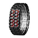 ราคาถูก Skin Care-สำหรับผู้ชาย นาฬิกาดิจิตอล นาฬิกาอิเล็กทรอนิกส์ (Quartz) ดำ 30 m จอ LCD ดิจิตอล ไม่เป็นทางการ แฟชั่น - สีส้ม + สีดำ Silver / Blue Silver / Red