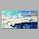 Χαμηλού Κόστους Εκτυπώσεις σε Κορνίζα-Hang-ζωγραφισμένα ελαιογραφία Ζωγραφισμένα στο χέρι - Αφηρημένο Μοντέρνα Χωρίς Εσωτερικό Πλαίσιο / Κυλινδρικός καμβάς