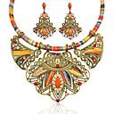 ราคาถูก สร้อยคอ-สำหรับผู้หญิง หลายสี เพชรสังเคราะห์ Drop Earrings สร้อยคอคำชี้แจง ทางเรขาคณิต Flower สุภาพสตรี ความหรูหรา โบฮีเมียน ชาติพันธุ์ สง่างาม แอฟริกัน เรซิน พลอยเทียม ต่างหู เครื่องประดับ สายรุ้ง สำหรับ