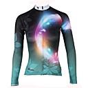 ราคาถูก เสื้อปั่นจักรยาน-ILPALADINO สำหรับผู้หญิง แขนยาว Cycling Jersey สีเขียว ลวดลายดอกไม้ / เกี่ยวกับพฤษศาสตร์ จักรยาน เสื้อยืด Tops ขี่จักรยานปีนเขา Road Cycling รักษาให้อุ่น ผ้าซับในขนสัตว์ Ultraviolet Resistant กีฬา