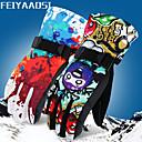 Χαμηλού Κόστους Ρούχα για σκι, σνόουμπορντ-Γάντια για Δραστηριότητες & Αθλήματα Χειμωνιάτικα Γάντια Γάντια του σκι Ανδρικά Γυναικεία Αθλήματα Χιονιού Ολόκληρο το Δάχτυλο Χειμώνας Αντιανεμικό Αδιάβροχο Διατηρείτε Ζεστό Φανέλα Νάιλον