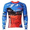 povoljno Biciklističke majice-ILPALADINO Muškarci Dugih rukava Biciklistička majica Plava Bicikl Biciklistička majica Majice Ugrijati Podstava od flisa Ultraviolet Resistant Sportski Zima Elastan Runo Brdski biciklizam biciklom
