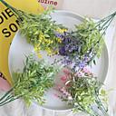 ราคาถูก ดอกไม้ประดิษฐ์-ดอกไม้ประดิษฐ์ 1 สาขา คลาสสิก ดอกไม้สำหรับงานแต่งงาน ทุ่งหญ้าชนบท สไตล์ ตะพุ่น ดอกไม้วางบนโต๊ะ