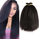 Χαμηλού Κόστους Εξτένσιος μαλλιών με φυσικό χρώμα-4 πακέτα Μαλαισιανή Yaki Φυσικά μαλλιά Υφάνσεις ανθρώπινα μαλλιών δέσμη μαλλιών Ένα πακέτο Λύση 8-28 inch Φυσικό Χρώμα Υφάνσεις ανθρώπινα μαλλιών Η καλύτερη ποιότητα Για μαύρες γυναίκες 100% παρθένα