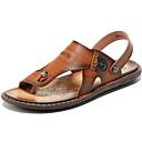 ราคาถูก รองเท้าแตะผู้ชาย-สำหรับผู้ชาย รองเท้าสบาย ๆ หนัง ตก / ฤดูร้อนฤดูใบไม้ผลิ วินเทจ / ไม่เป็นทางการ รองเท้าแตะ รองเท้าน้ำ / รองเท้าต้นน้ำ ระบายอากาศ สีน้ำตาล
