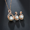 cheap Jewelry Sets-Women's Bridal Jewelry Sets Classic Sweet Elegant Imitation Pearl Earrings Jewelry Gold / Silver For Wedding Birthday 1 set