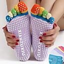 hesapli Fitness, Koşu ve Yoga Kıyafetleri-Kadın's Kaydırmaz Yoga Çorapları Beş Ayak Çorap Parmaklı Çoraplar Anti-kayma Pochłanianie potu Kaymaz Pilates Bikram Tutunma Çubuğu Spor Dalları Kış Siyah Sarı+Mavi Beyaz + Mavi