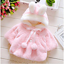 Χαμηλού Κόστους Βρεφικά φορέματα-Μωρό Κοριτσίστικα Βασικό Καθημερινά Μονόχρωμο Μακρυμάνικο Κανονικό Βαμβάκι Μπουφάν & Παλτό Βυσσινί / Νήπιο