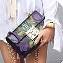 ราคาถูก กระเป๋าสะพายข้าง-สำหรับผู้หญิง กระดุม PU กระเป๋าสะพาย ลายบล็อคสี สีม่วง / สีน้ำเงิน / ฤดูใบไม้ร่วง & ฤดูหนาว