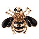 povoljno Značke i broševi-Žene Broševi Klasičan Leaf Shape Pčela pomodan Moda Broš Jewelry Crn Za Ulica Festival