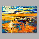 Χαμηλού Κόστους Πίνακες Τοπίων-Hang-ζωγραφισμένα ελαιογραφία Ζωγραφισμένα στο χέρι - Αφηρημένο Μοντέρνα Περιλαμβάνει εσωτερικό πλαίσιο / Επενδυμένο καμβά