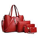 ราคาถูก เซ็ตกระเป๋า-สำหรับผู้หญิง PU ชุดกระเป๋า ชุดกระเป๋า สีทึบ ชุดกระเป๋า 4 ชิ้น สีดำ / ไวน์ / สีทอง