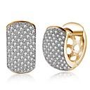Χαμηλού Κόστους Μοδάτα Σκουλαρίκια-Γυναικεία Χρυσό Cubic Zirconia μικροσκοπικό διαμάντι Σκουλαρίκι Κλασσικό κυρίες Μοντέρνα Σκουλαρίκια Κοσμήματα Χρυσό Για Πάρτι Καθημερινά 1 Pair
