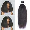 povoljno Umjetno drago kamenje&Dekoracije-6 paketića Peruanska kosa Yaki Straight Ljudska kosa Netretirana  ljudske kose Ljudske kose plete Bundle kose Jedan Pack Solution 8-28 inch Prirodna boja Isprepliće ljudske kose Život Nježno / 8A