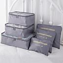 billiga Duffelväskor-6 uppsättningar Resväska / Travel Organizer / Bagageorganisatör Stor kapacitet / Vattentät / Bärbar BH / Kläder Oxfordtyg Utomhus / Resor / Till hemmet / Hållbar