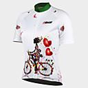 ราคาถูก ชุดออกกำลังกายและชุดโยคะ-21Grams สำหรับผู้หญิง แขนสั้น Cycling Jersey - ขาว ลวดลายดอกไม้ / เกี่ยวกับพฤษศาสตร์ จักรยาน เสื้อยืด Tops, ระบายอากาศ แห้งเร็ว Ultraviolet Resistant 100% โพลีเอสเตอร์ / ขั้นสูง / กระเป๋าหลัง