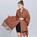 ราคาถูก ผ้าคลุมสำหรับชุดแต่งงาน-แขนยาว ขนสัตว์เทียม งานแต่งงาน / งานปาร์ตี้ / งานราตรี Women's Wrap กับ พู่ / Patterned ผ้าคลุม