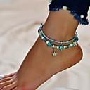 povoljno Nakit za tijelo-Žene Svjetloplav Gležanj Narukvica Gyöngyök Romantični Kratka čarapa Jewelry Svjetloplav Za Ulica Izlasci