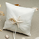 povoljno Jastuk za prstenje-Tekstil starfish and seashell Saten ring pillow Monogram Sva doba