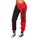 זול ביגוד כושר, ריצה ויוגה-בגדי ריקוד גברים מכנסי ריצה מסלול מכנסי ספורט חגורה גמישה שרוך ספורט חורף מכנסיים תחתיות כושר וספורט כושר אמון נושם ייבוש מהיר מידות גדולות קולור בלוק אדום XS S M L XL XXL / כותנה / מיקרו-אלסטי