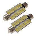 Χαμηλού Κόστους Σποτάκια LED-sencart 2τμ λαμπτήρες αυτοκινήτου 41 χιλιοστά 7w smd 5730 420 lm 14 άσπρο / ζεστό λευκό οδηγημένο εσωτερικό φώτα / εξωτερικά φώτα