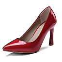 ราคาถูก รองเท้าส้นสูงผู้หญิง-สำหรับผู้หญิง PU ฤดูใบไม้ผลิ รองเท้าส้นสูง Hidden Heel สีดำ / ผ้าขนสัตว์สีธรรมชาติ / แดง