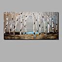 povoljno Slike za cvjetnim/biljnim motivima-Hang oslikana uljanim bojama Ručno oslikana - Sažetak Pejzaž Comtemporary Moderna Uključi Unutarnji okvir / Valjani platno / Prošireni platno