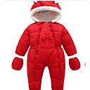 Χαμηλού Κόστους Ρούχα τρεξίματος-Μωρό Κοριτσίστικα Βασικό Μονόχρωμο / Χριστούγεννα Μακρυμάνικο Βαμβάκι Ένα Κομμάτι Ρουμπίνι