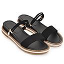 ราคาถูก รองเท้าแตะผู้หญิง-สำหรับผู้หญิง หนังนิ่ม ตก รองเท้าแตะ ส้นแบน ขาว / สีดำ / สีชมพู