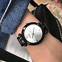 povoljno Praktični poklončići-Par je Sat uz haljinu Ručni satovi s mehanizmom za navijanje Kvarc Crna / Bijela / Smeđa Casual sat Analog Elegantno Minimalistički - Pink Fuksija Kava