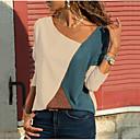povoljno 3D printeri-Veći konfekcijski brojevi Bluza Žene Kauzalni Color block V izrez Obala / Proljeće / Jesen