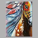 זול ציורים מופשטים-ציור שמן צבוע-Hang מצויר ביד - מופשט אומנות פופ קלסי מודרני ללא מסגרת פנימית / בד מגולגל