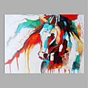 povoljno Slike sa životinjskim motivima-Hang oslikana uljanim bojama Ručno oslikana - Sažetak Moderna Bez unutrašnje Frame / Valjani platno