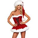 Χαμηλού Κόστους Προμήθειες Πάρτι Halloween-Κ. Claus Στολές Santa Clothe Γυναικεία Χριστούγεννα Γιορτές / Διακοπές Πολυεστέρας Κόκκινο Γυναικεία Αποκριάτικα Κοστούμια Μονόχρωμο Διακοπών Χριστούγεννα / Φόρεμα / Καπέλο / Φόρεμα / Καπέλο