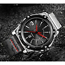 ราคาถูก ดอกไม้ประดิษฐ์-ASJ สำหรับผู้ชาย นาฬิกาตกแต่งข้อมือ นาฬิกาข้อมือ ญี่ปุ่น นาฬิกาควอตซ์ญี่ปุ่น หนังแท้ ดำ 100 m กันน้ำ ปฏิทิน ระบบอนาล็อก คลาสสิก ไม่เป็นทางการ แฟชั่น - สีดำ เงิน / ดำ หนึ่งปี อายุการใช้งานแบตเตอรี่