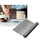 billiga Baktillbehör-rostfritt stål pizza deg skrapa skär bakande bakverk spatulas fondant tårta dekorationsverktyg köksredskap