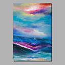 Χαμηλού Κόστους Αφηρημένοι Πίνακες-Hang-ζωγραφισμένα ελαιογραφία Ζωγραφισμένα στο χέρι - Αφηρημένο Τοπίο Σύγχρονο Μοντέρνα Περιλαμβάνει εσωτερικό πλαίσιο / Κυλινδρικός καμβάς / Επενδυμένο καμβά