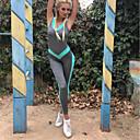 baratos Camisas, Shorts & Calças de Corrida-Mulheres Cintura Alta Sem costas Macaquinho Macacão de treino Côr Sólida Zumba Ioga Fitness Body Sem Manga Roupas Esportivas Butt Lift Com Stretch Delgado