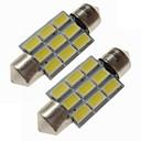 billiga Car Exterior Lights-SENCART 2pcs 36mm Bilar Glödlampor 4.5 W SMD 5730 270 lm 9 LED innerbelysningen / Utomhuslampor lampor Till