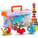 זול בלוקים משולבים-אבני בניין כדורים צעצוע חינוכי 400+36 pcs עיניים לב תואם Legoing עשה זאת בעצמך אינטראקציה בין הורים לילד יוניסקס בנים בנות צעצועים מתנות