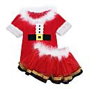 povoljno Božićni kostime-Cosplay Nošnje Santa Clothe Dječji Dječaci Božić Božić New Year Festival / Praznik Polyster Red Karneval kostime Odmor