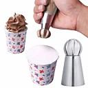 Χαμηλού Κόστους Εργαλεία ψησίματος και ζαχαροπλαστικής-3pcs Ανοξείδωτο Ατσάλι Κέικ Για μαγειρικά σκεύη Επιδόρπιο Διακοσμητές Εργαλεία επιδόρπιο Εργαλεία ψησίματος