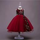 Χαμηλού Κόστους Βρεφικά φορέματα-Νήπιο Κοριτσίστικα Βασικό Πάρτι Γεωμετρικό Αμάνικο Μακρύ Φόρεμα Μαύρο