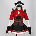 povoljno Anime kostimi-Inspirirana Ljubav uživo Cosplay Anime Cosplay nošnje Japanski Cosplay Suits Color block / Klasika Haljina / Shawl / Rukavice Za Muškarci / Žene