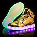 billige LED Sko-Gutt LED / Lysende sko PU Treningssko Små barn (4-7år) / Store barn (7 år +) LED Gull / Sølv / Blå Høst