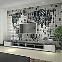 Χαμηλού Κόστους Ταπετσαρία-ταπετσαρία / Τοιχογραφία Καμβάς Κάλυψης τοίχων - κόλλα που απαιτείται Φλοράλ / Art Deco / 3D