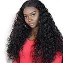 povoljno Perike s ljudskom kosom-Virgin kosa Remy kosa Lace Front Perika Stepenasta frizura Srednji dio Stražnji dio stil Brazilska kosa Wavy Duboko kovrčava Natural Perika 130% Gustoća kose Nježno Prirodno Prirodna linija za kosu